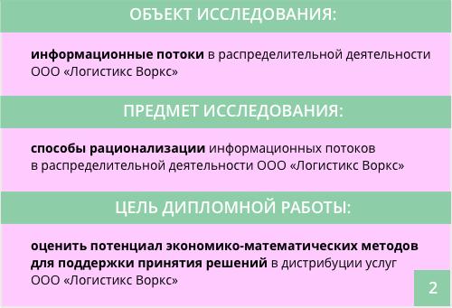 предмет и объект ВКР